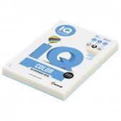 Бумага цветная для принтера IQ Color А4, 160 г/м2, 100 листов, 5 цветов, RB01
