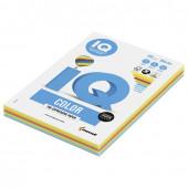 Бумага цветная для принтера IQ Color А4, 160 г/м2, 100 листов, 5 цветов, RB02