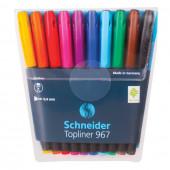 Ручки капиллярные линёры Schneider Topliner 967 линия 0,4 мм 10 цветов 196790