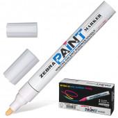 Маркер перманентный Zebra Paint линия 2 мм белый MOP-200M-W