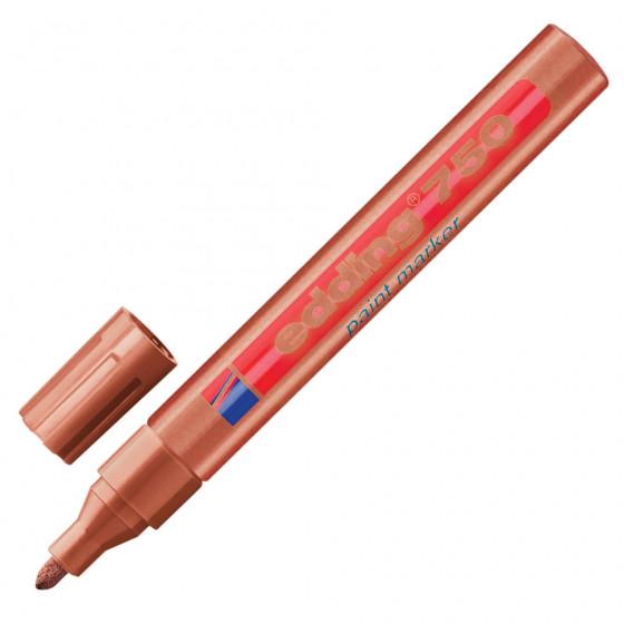 Маркер краска лаковый Edding 750 линия 2-4 мм медный E-750/55