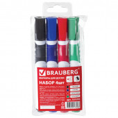 Маркеры для доски Brauberg SOFT линия 5 мм 4 цвета 151252