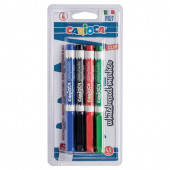 Маркеры для доски Carioca линия 4,5 мм 4 цвета 42878