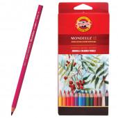 Карандаши цветные акварельные KOH-I-NOOR Mondeluz 3,8 мм 12 цветов 3716012001KSRU