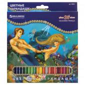 Карандаши цветные Brauberg Морские Легенды 24 цвета 180561