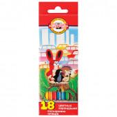 Карандаши цветные KOH-I-NOOR Крот 3,2 мм 18 цветов 3653018026KSRV