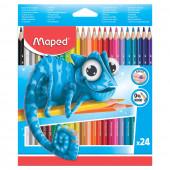 Карандаши цветные трехгранные пластиковые Maped Pulse 24 цвета 862254