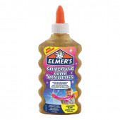 Клей для слаймов канцелярский с блестками Elmers Glitter Glue 177 мл золотой 2077251