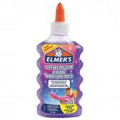 Клей для слаймов канцелярский с блестками Elmers Glitter Glue 177 мл фиолетовый 2077253