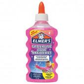 Клей для слаймов канцелярский с блестками Elmers Glitter Glue 177 мл розовый 2077249