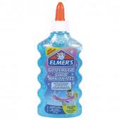 Клей для слаймов канцелярский с блестками Elmers Glitter Glue 177 мл голубой 2077252
