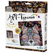 Алмазная мозаика Origami Арт-Терапия Ночной Волк 20х20 см 03214