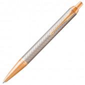 Ручка шариковая Parker IM Premium Warm Silver GT с гравировкой и позолотой 1931687