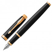 Ручка перьевая Parker IM Core Black Lacquer GT с позолотой 1931645