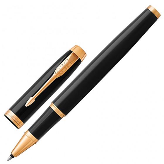 Ручка роллер Parker IM Core Black Lacquer GT с позолотой 1931659