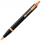 Ручка шариковая Parker IM Core Black Lacquer GT с позолотой 1931666