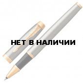Ручка роллер Parker IM Core Brushed Metal GT с позолотой 1931663