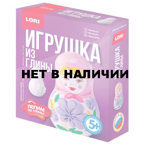 Набор для изготовления игрушки из глины Lori Матрешка Гл-002
