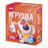 Набор для изготовления игрушки из глины Lori Собачка Гл-003