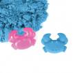 Песок для лепки кинетический Юнландия синий 500 г 104996