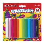 Пластилин классический Brauberg 12 цветов 200 г 103350
