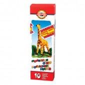 Пластилин классический KOH-I-NOOR Жираф 10 цветов 200 г 013150400000RU