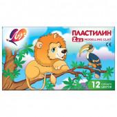 Пластилин классический Луч Zoo 12 цветов 162 г 19С 1272-08