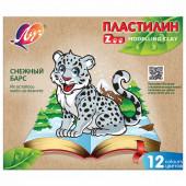 Пластилин классический Луч Zoo 12 цветов 180 г 29C 1722-08