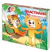Пластилин классический Луч Zoo 15 цветов 2025 г 20С 1357-08