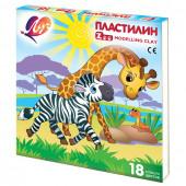 Пластилин классический Луч Zoo 18 цветов 243 г 20С1358-08