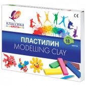 Пластилин классический Луч Классика 18 цветов 360 г со стеком 20С 1330-08