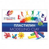 Пластилин классический Луч Классика 24 цвета 480 г со стеком 28С 1642-08