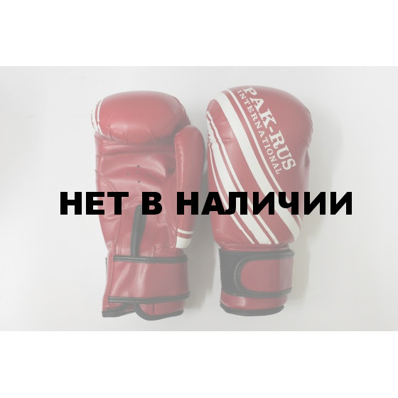 Перчатки боксерские детские Pak Rus, искусственная кожа, 6 OZ, (красные) PR-128888