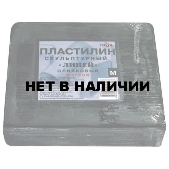 Пластилин скульптурный Гамма Лицей оливковый 500 г мягкий 280Е050004