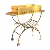 Мангал на колесах Boyscout Gold с 2 столиками и дровницей 61501