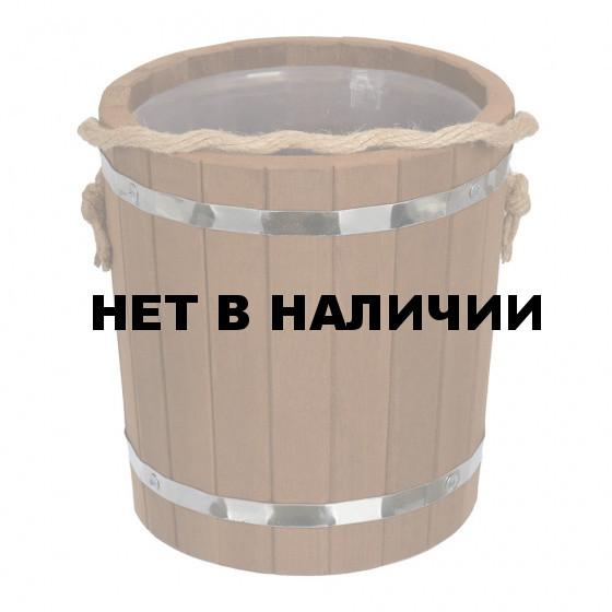 Ведро для бани Банные Штучки Таежное (термо) с пластиковой вставкой липа 5 л 31063