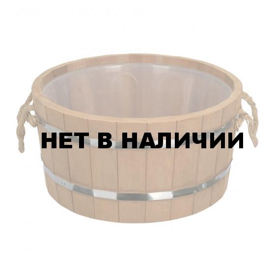 Ушат шайка Банные Штучки Таежный (термо) с пластиковой вставкой липа 10 л 31068