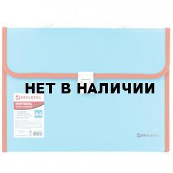 Папка портфель А4 для документов пластиковая Brauberg Joy 13 отделений 227976