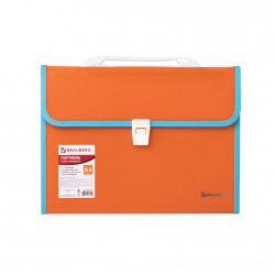 Папка портфель А4 для документов пластиковая Brauberg Joy 13 отделений 227975