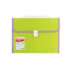 Папка портфель А4 для документов пластиковая Brauberg Joy 13 отделений 227974