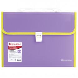 Папка портфель А4 для документов пластиковая Brauberg Joy 13 отделений 227977