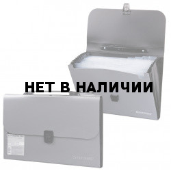 Папка портфель А4 для документов пластиковая Brauberg 13 отделений 221442