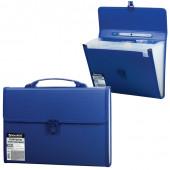 Папка портфель А4 для документов пластиковая Brauberg 13 отделений 221379