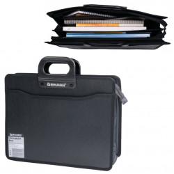 Папка портфель А4+ для документов пластиковая Brauberg 4 отделения 221391