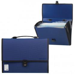 Папка портфель А4 для документов пластиковая Brauberg Дипломат 13 отделений 226026