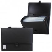 Папка портфель А4 для документов пластиковая Brauberg Дипломат 13 отделений 226025