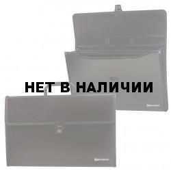 Папка портфель А4 для документов пластиковая Brauberg Президент 3 отделения 226022
