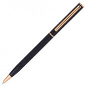 Ручка шариковая Brauberg Slim Black линия 0,7 мм 141402