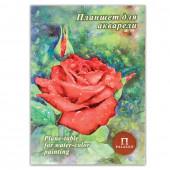 Папка для акварели А4 Palazzo Алая роза 20 листов, 200 г/м2, тиснение Скорлупа ПЛАР/А4