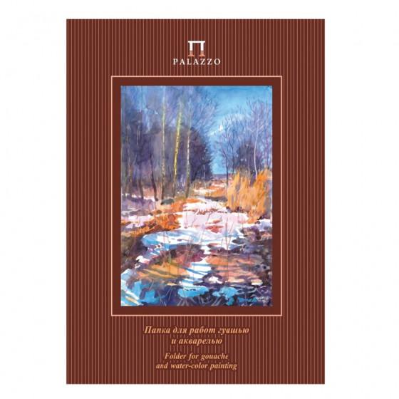 Папка для гуаши и акварели А3 Palazzo Весенний лес 20 листов, 160 г/м2 ПГА3/20